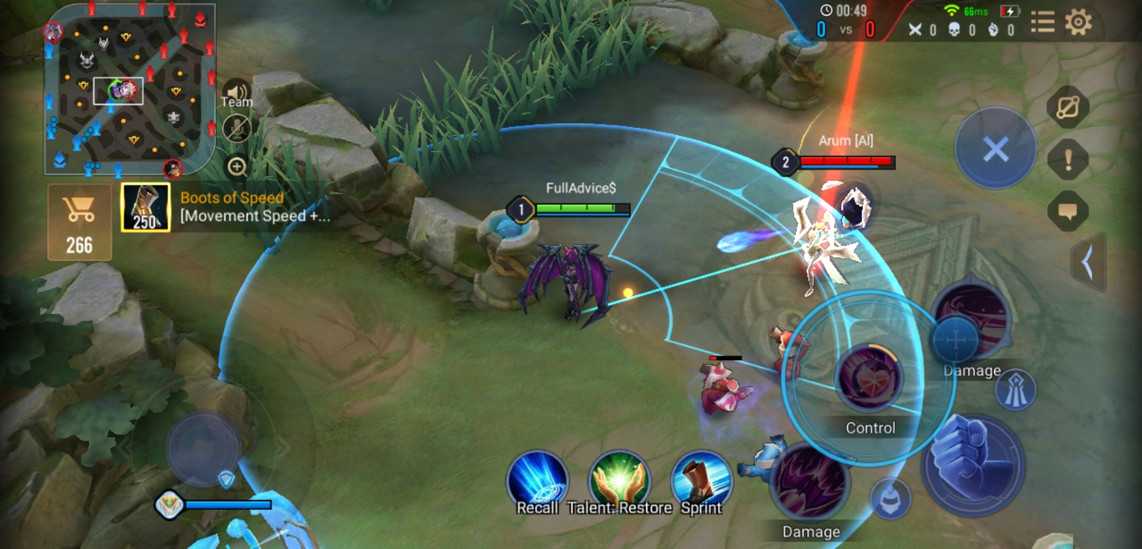 An in-game screenshot from Arena of Valor